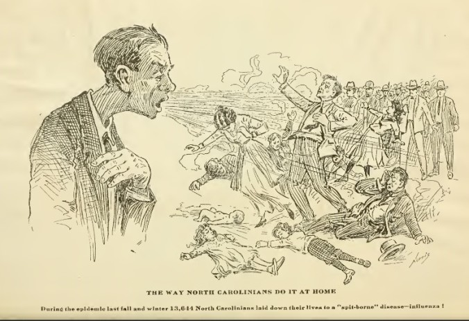 October 1919 Spanish Flu Political Cartoon